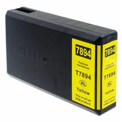Epson utángyártott tintapatron - T7894 Yellow sárga