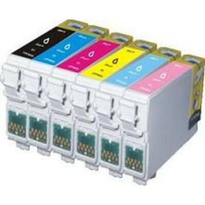 Epson utángyártott tintapatron - T806 Fotó cián